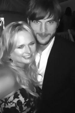 Ashton Kutcher with a girl