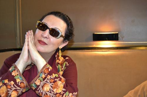 La cantante Martirio, durante la entrevista