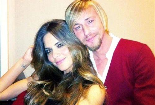 Guti y Romina, acaramelados.