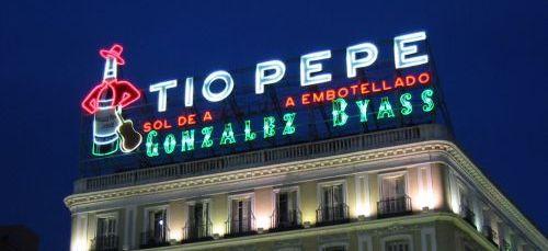Cartel en Madrid