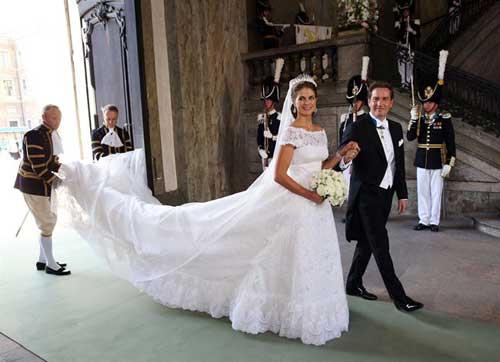 así fue el vestido de novia de magdalena de suecia - republica