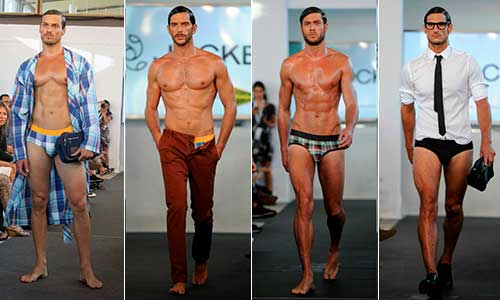 Tira de modos de ropa interior masculina