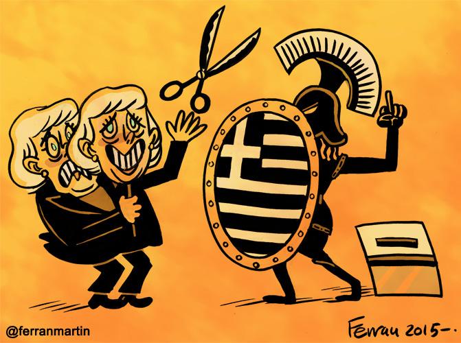 La viñeta: Tragedia griega