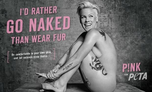 Helena Bonham Carter Y Pink Desnudas Contra La Explotación Animal