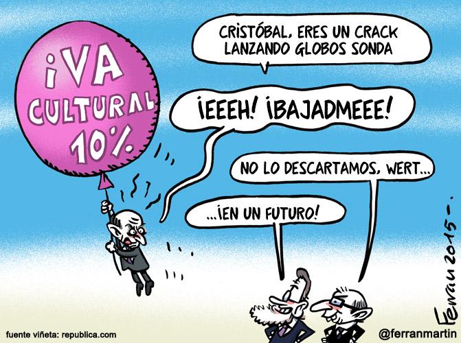 La viñeta: IVA cultural