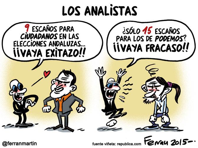 La viñeta: Los analistas
