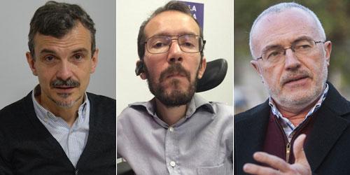 José Manuel López, Pablo Echenique y Antonio Montiel