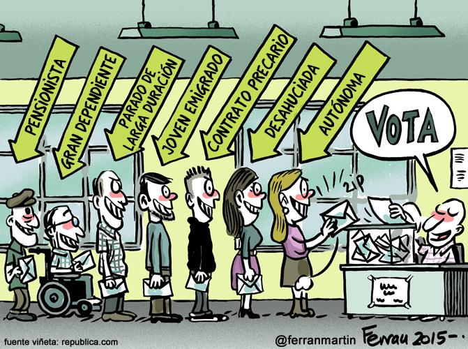 La viñeta: Sed de urnas