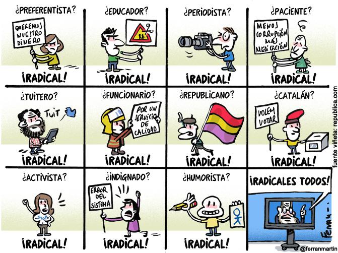 La viñeta: radicales
