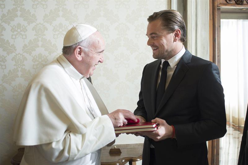 El Papa y Leonardo di Caprio
