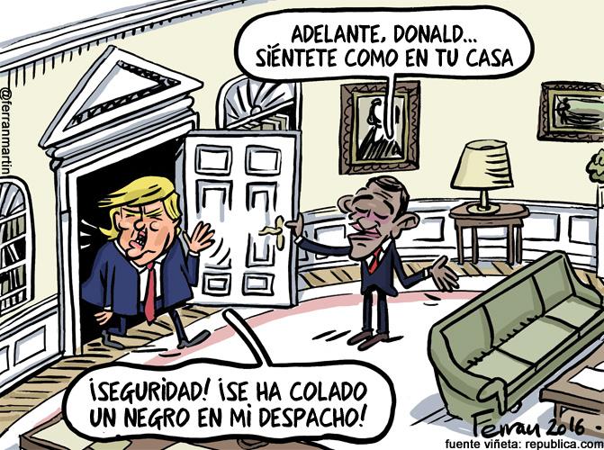 La viñeta: Trump-Obama, el encuentro