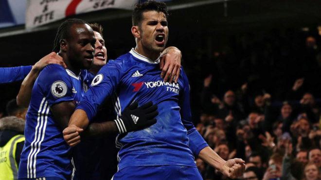 Diego Costa afianza al Chelsea y el Arsenal se coloca segundo