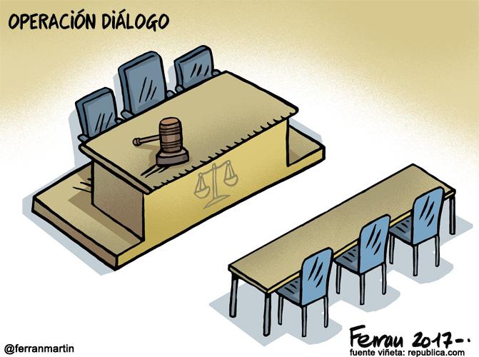 La viñeta: Operación diálogo