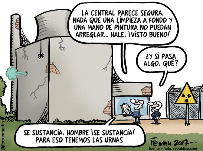 La viñeta: Centrales nucleares