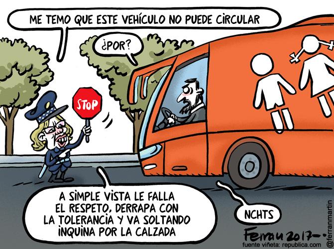 La viñeta: El autobús