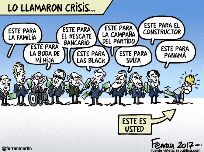 La viñeta: Lo llamaron crisis