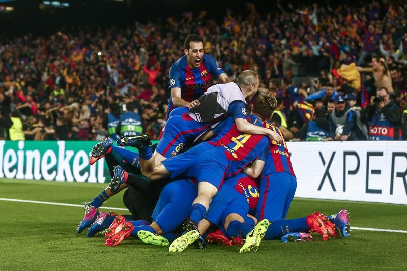 La UEFA podría sancionar al Barça por la invasión de campo tras el 6-1