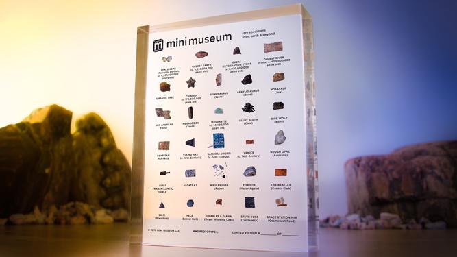 Gemas espaciales, un trozo del jersey de Steve Jobs y otros objetos únicos que caben en tu bolsillo gracias a este minimuseo