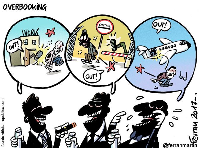 La viñeta: Overbooking