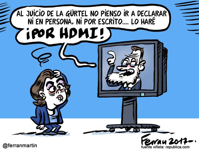 La viñeta: Rajoy, citado
