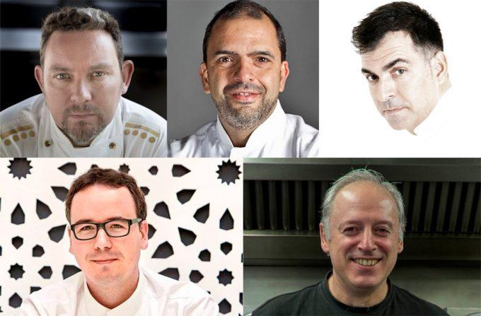 Nominados en la categoría 'Mejor Jefe de Cocina' en los Premios Nacionales de Gastronomía 2016