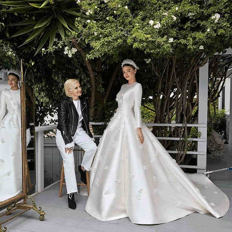 Miranda Kerr desvela el que ha sido su secreto mejor guardado, su vestido de novia