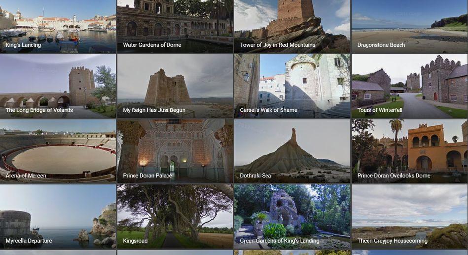 Google Maps nos lleva de viaje virtual por los Siete Reinos