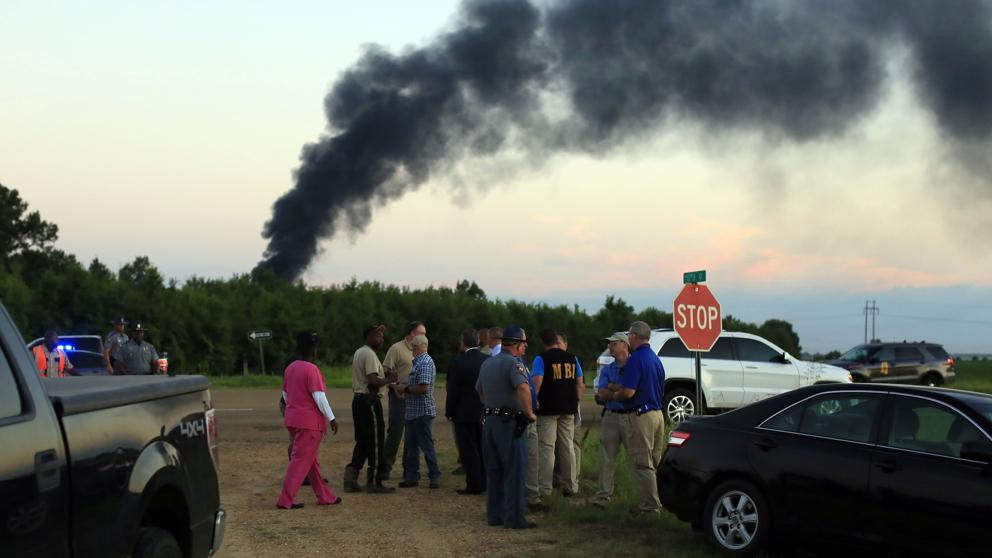 avión accidente tripulantes aeronave misisipi militar