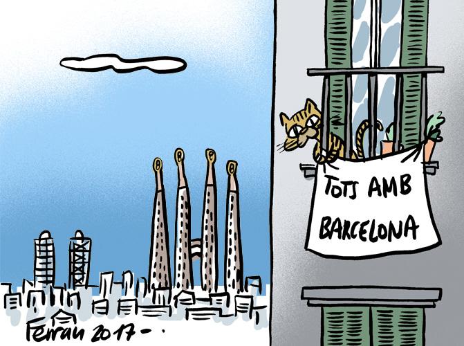 La viñeta: Tots amb Barcelona