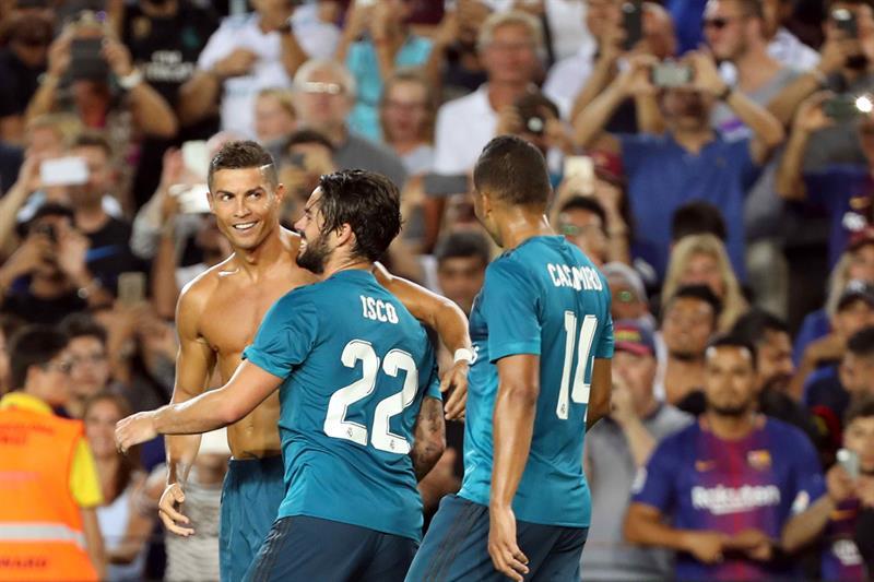 El Real Madrid ha vencido al FC Barcelona en el Camp Nou (1-3) en la ida de  la Supercopa de España tras un partido muy completo que resolvió en la  segunda ... 4ef33b1964e8d
