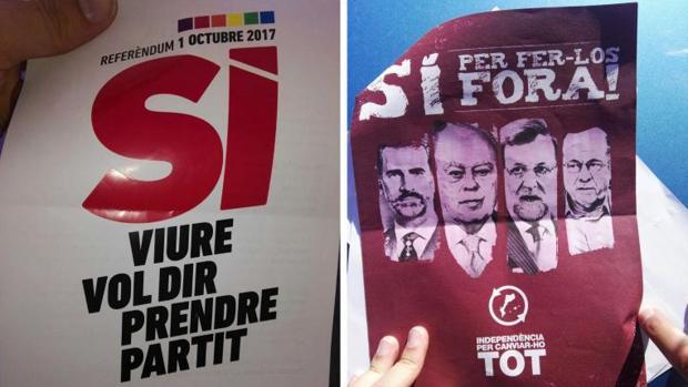 La Guardia Civil interviene 1,3 millones de carteles de propaganda del referéndum