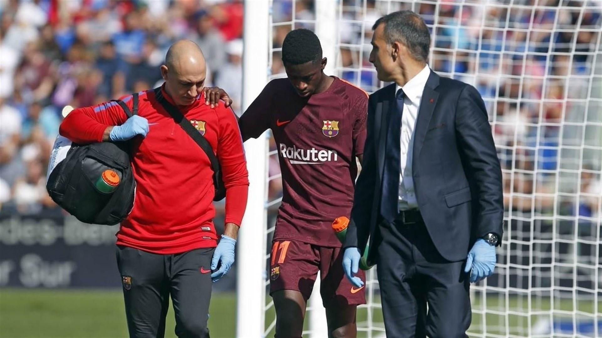 Dembélé, lesionado en Getafe, estará casi cuatro meses de baja