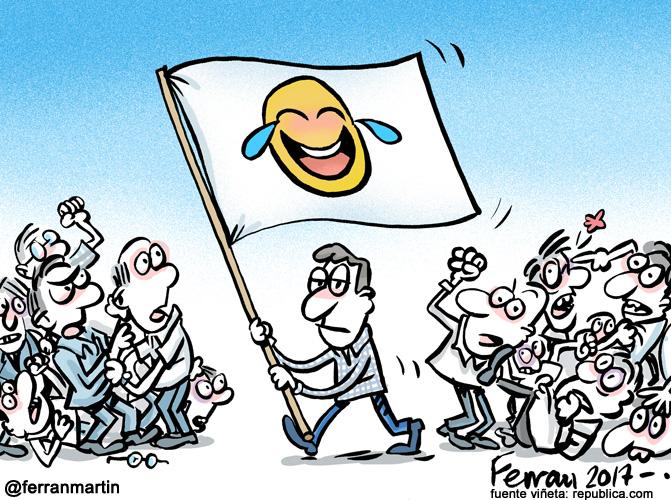 La viñeta: Banderas