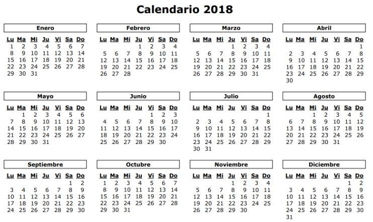 Calendario Laboral Espana.El Calendario Laboral Para 2018 Recoge Diez Festivos Comunes En Toda
