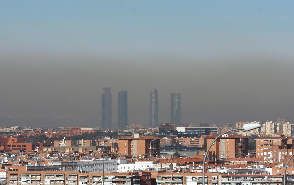 El Ayuntamiento de Madrid activa el protocolo por contaminación para este miércoles