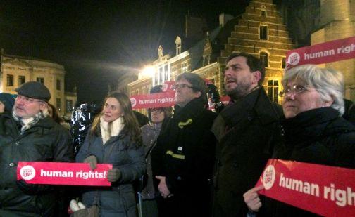 Puigdemont conmemora con apenas 20 personas los 100 días de su fuga a Bélgica