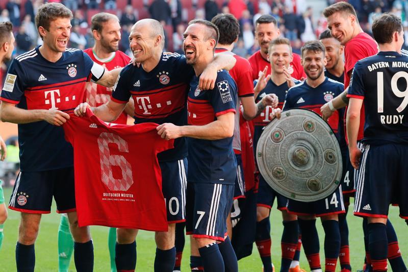 El Bayern se proclama, por sexta vez consecutiva, campeón de la Bundesliga