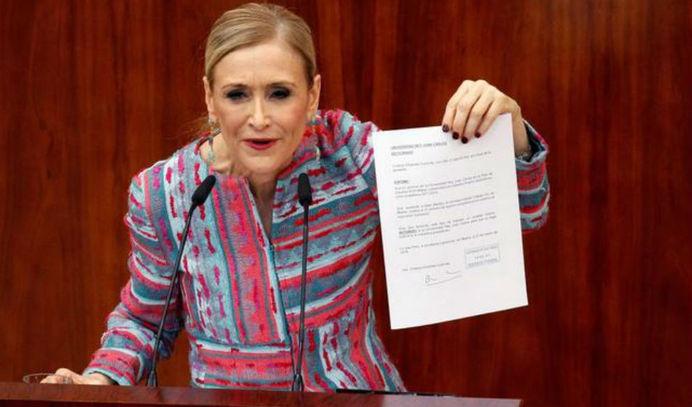 El tribunal que evaluó a Cristina Cifuentes nunca se reunió