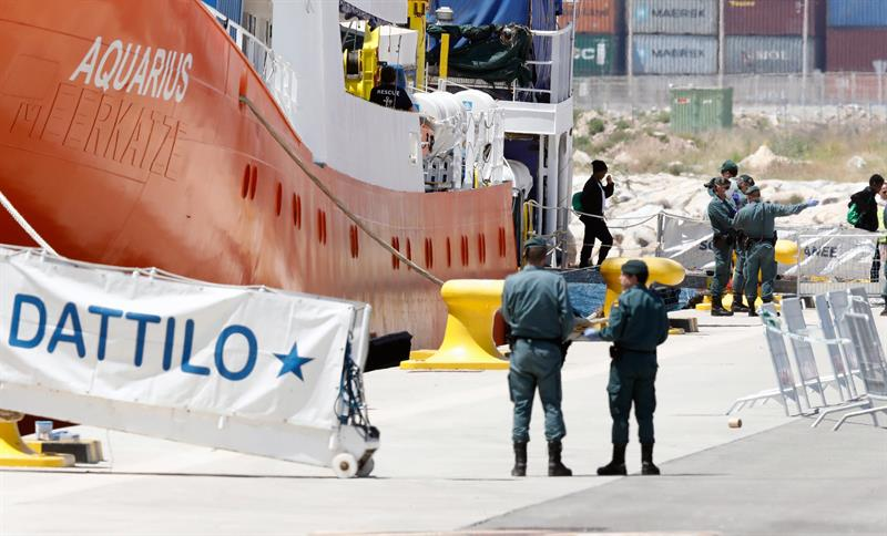 Se completa el rescate de la flota 'Aquarius' que ha desembarcado en Valencia