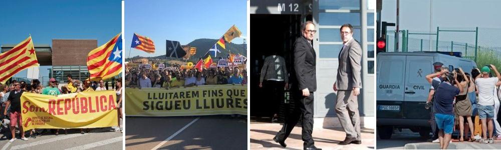 La presencia de los presos golpistas en Cataluña relanza la rebelión y su propaganda internacional