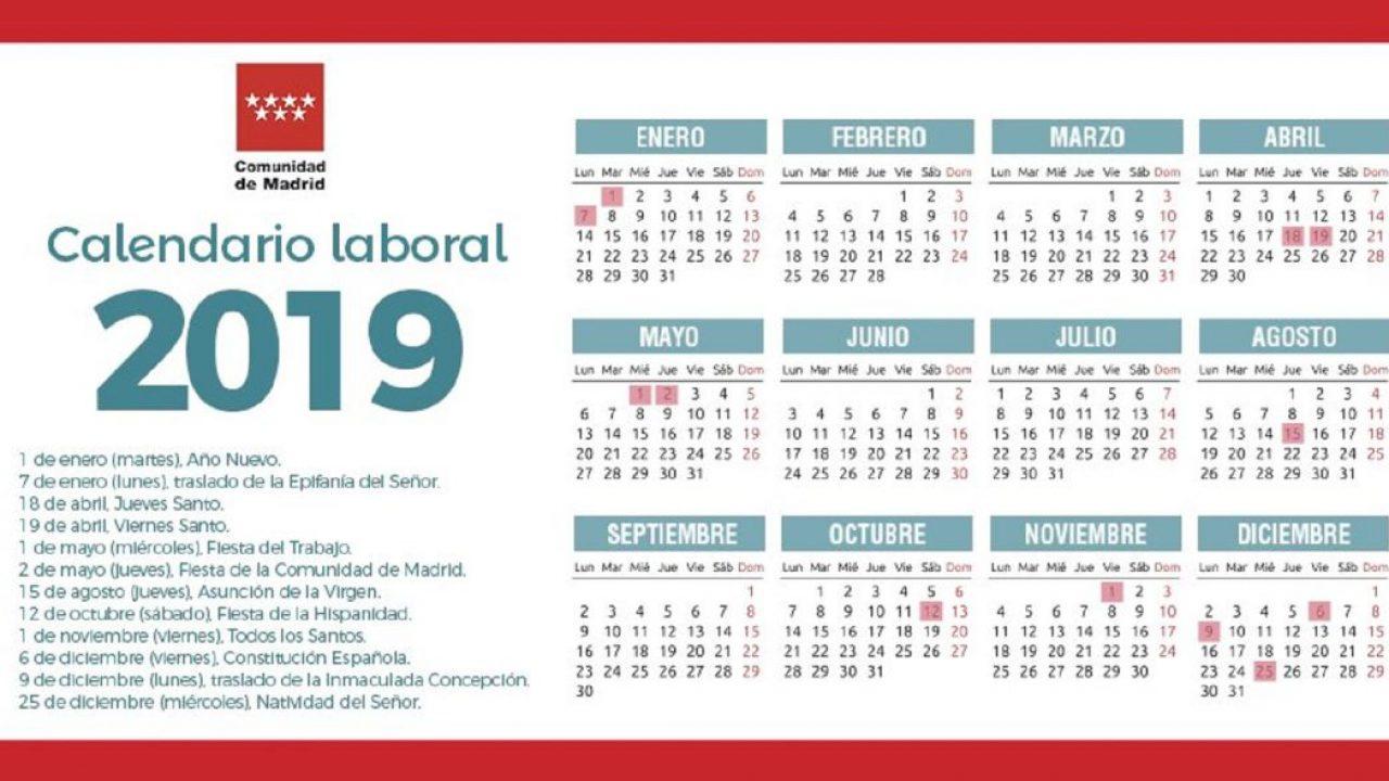 Calendario Festivos Vigo 2020.El Calendario Laboral De 2019 Tendra 8 Festivos Y Solo Dos Puentes