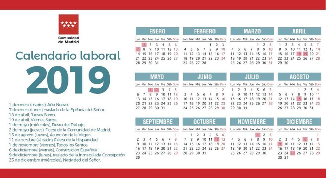 Calendario Laboral 2019 Andalucia.El Calendario Laboral De 2019 Tendra 8 Festivos Y Solo Dos Puentes