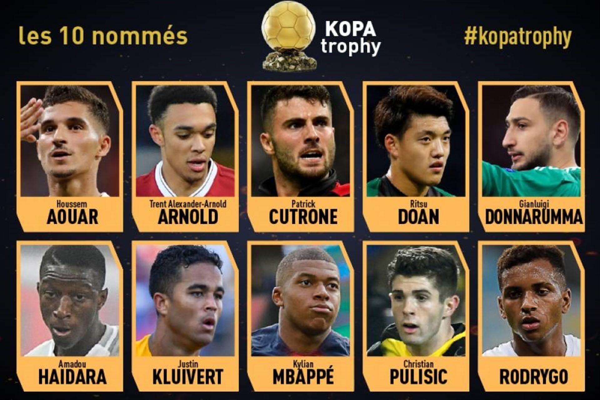 Mbappé encabeza la lista de candidatos al novedoso Trofeo Kopa