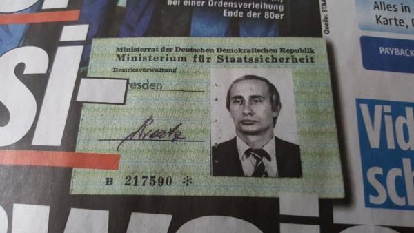 Hallan identificación de Putin en archivos de la policía secreta de Alemania