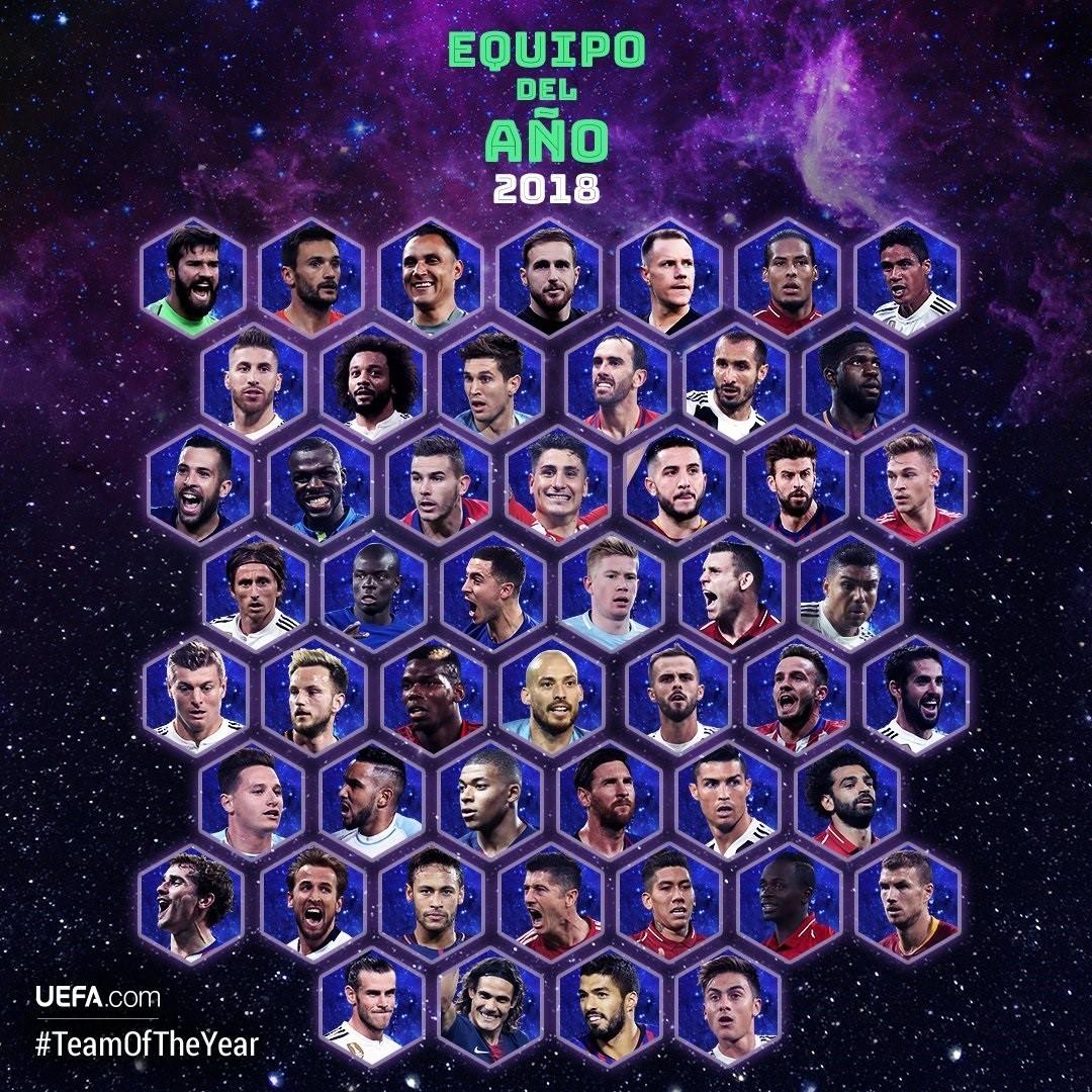 El once histórico de la UEFA incluye a seis españoles