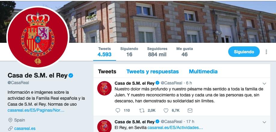 Casa Real Gobierno Y Fuerzas Políticas Trasladan Sus Condolencias A