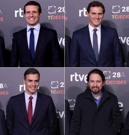 España: Primer debate entre principales candidatos presidenciales
