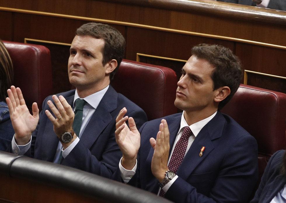 Casado y Rivera competirán este lunes por acorralar a Sánchez y liderar la oposición