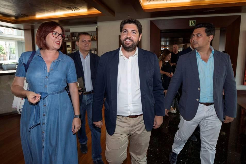 López Miras, candidato de nuevo a presidir Murcia tras el acuerdo de investidura entre PP, Cs y Vox