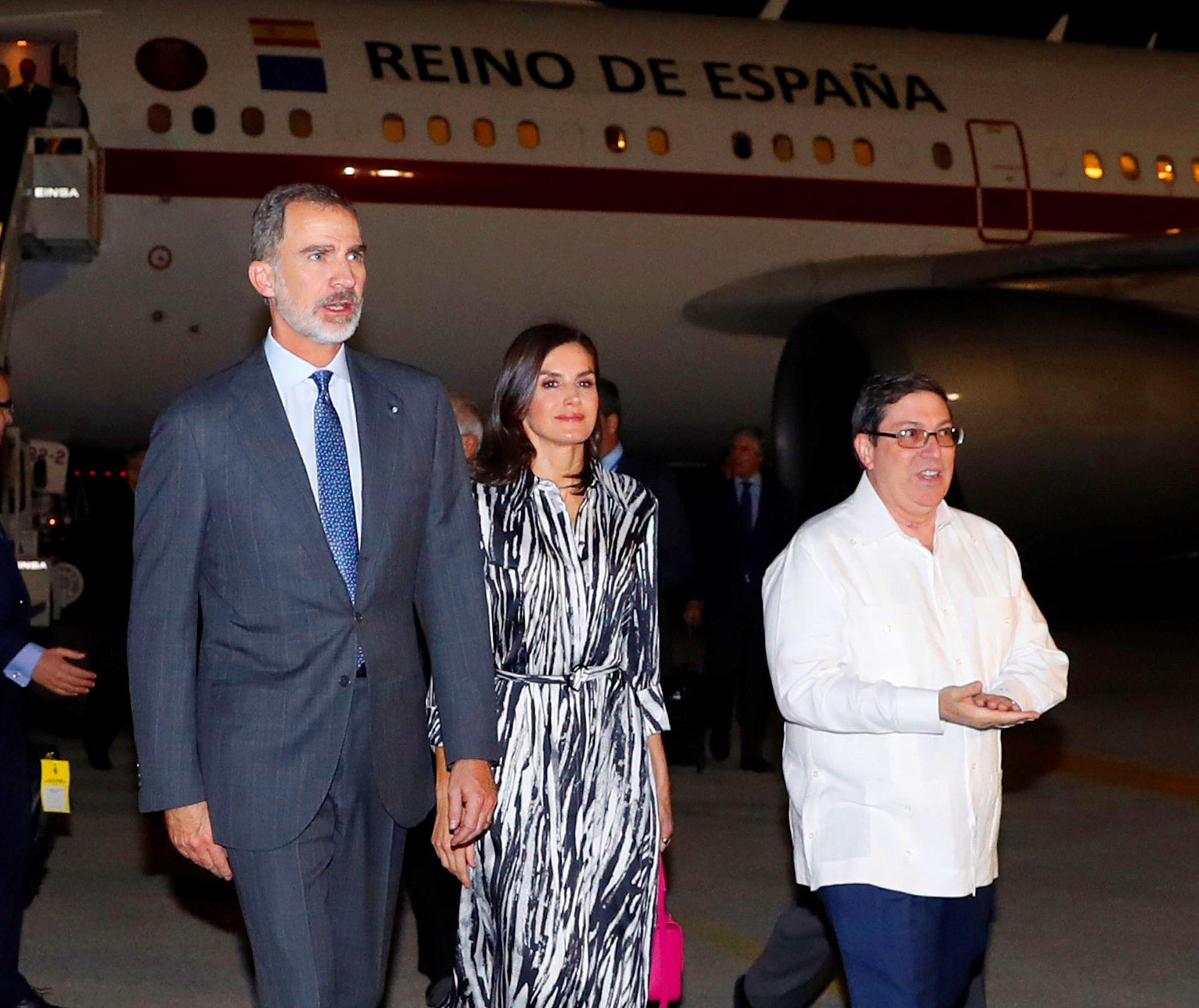 Reyes de España visitan La Habana